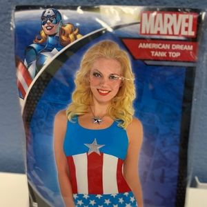 "Women's ""Captain America"" costume tank top"